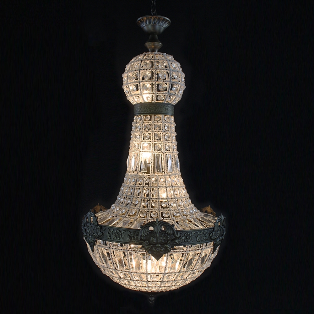 Fashionable Retro French Empire Church Style Crystal Chandelier Big Led Oval Within Big Crystal Chandelier (View 13 of 15)