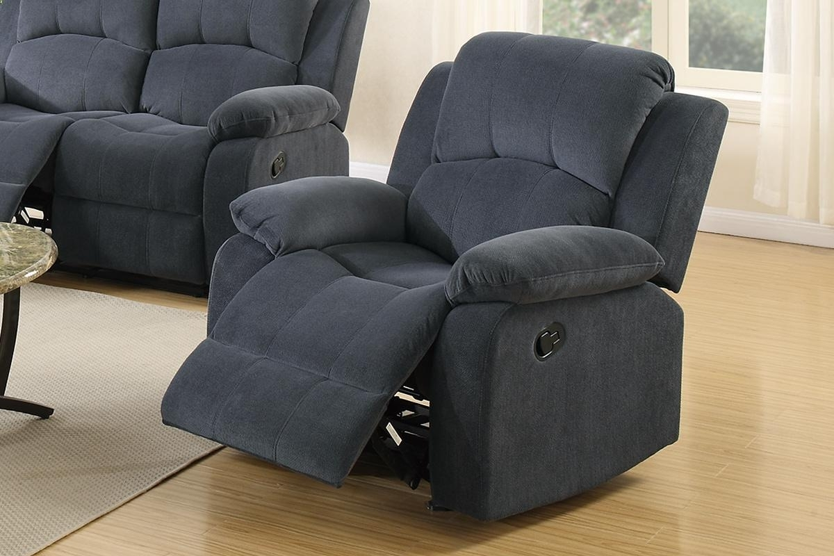 Fashionable Rocking Sofa Chairs In Grey Fabric Rocker Recliner Chair – Steal A Sofa Furniture Outlet (View 2 of 15)