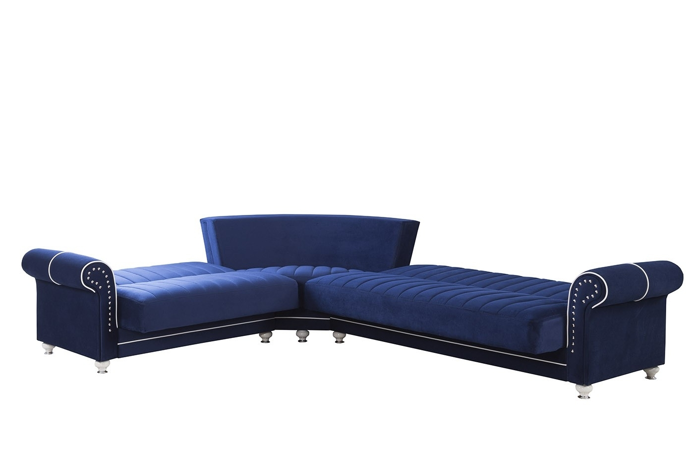 Fashionable Royal Home Sectional Sofa, Riva Dark Blue Buy Online At Best Price Throughout Royal Furniture Sectional Sofas (View 4 of 15)