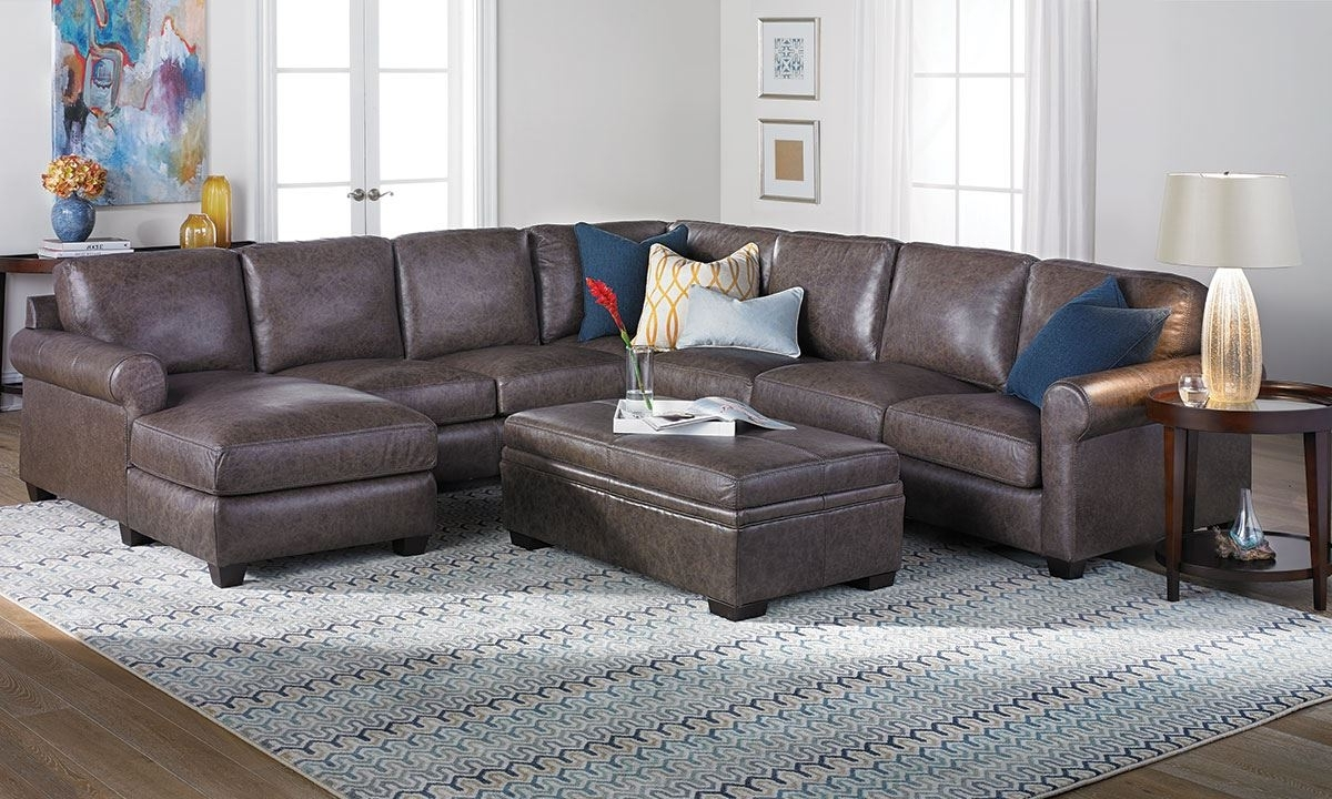 Fashionable Sectional Sofas At The Dump In Bradley Top Grain Leather & Feather Sectional Sofa (View 4 of 15)