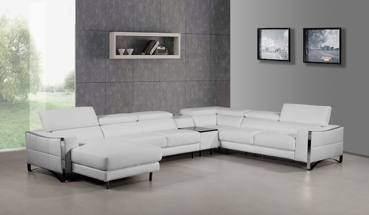 Fashionable Sectional Sofas From Europe With Regard To Sofa: Brown Leather Sofa Recliner Set Black Leather Sofa Recliner (View 9 of 15)