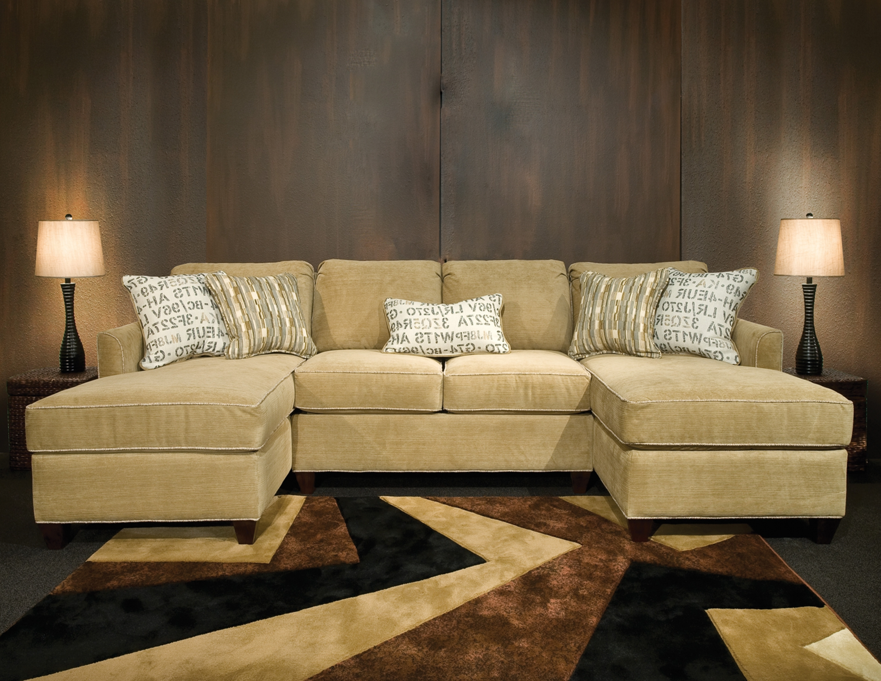 Fashionable Sectional Sofas With Double Chaise In Amusing Double Chaise Sectional Sofa 22 On Black Fabric Sectional (View 3 of 15)