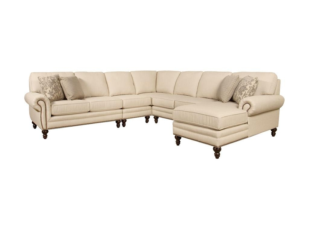 Fashionable Sectional Sofas With Nailhead Trim Regarding Sectional Sofa With Nailhead Trim Beige Leather Modern Trimbeige (View 2 of 15)