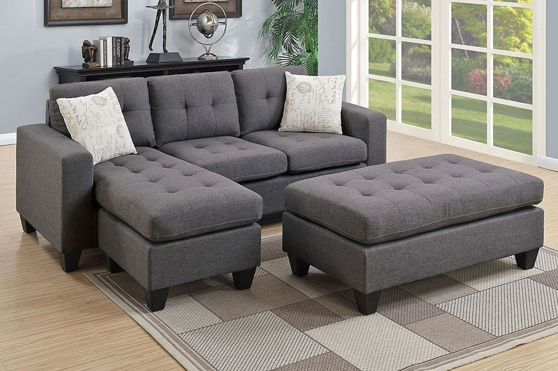 Fashionable Sectional Sofas With Regard To Fabric Sectional Sofa Set (View 5 of 15)