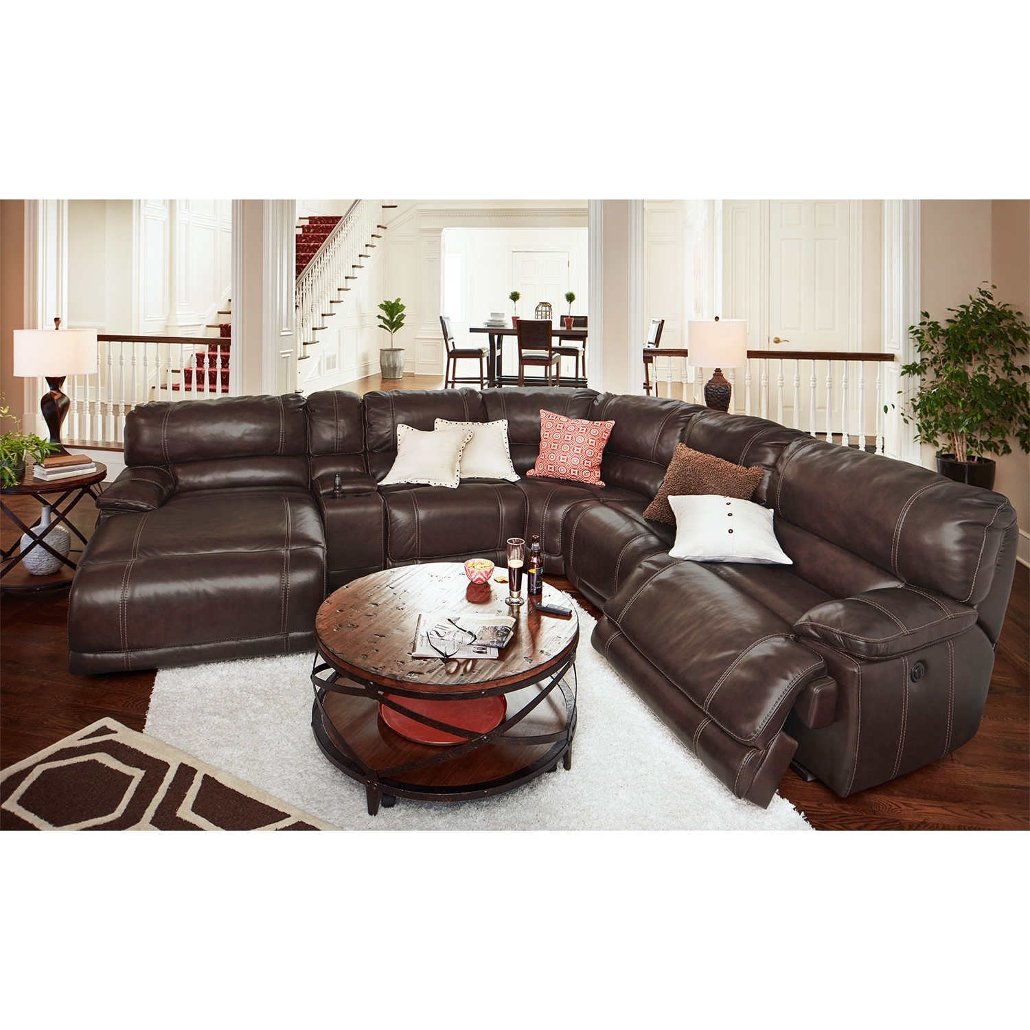Fashionable Sectionals With Chaise And Recliner Regarding St (View 4 of 15)