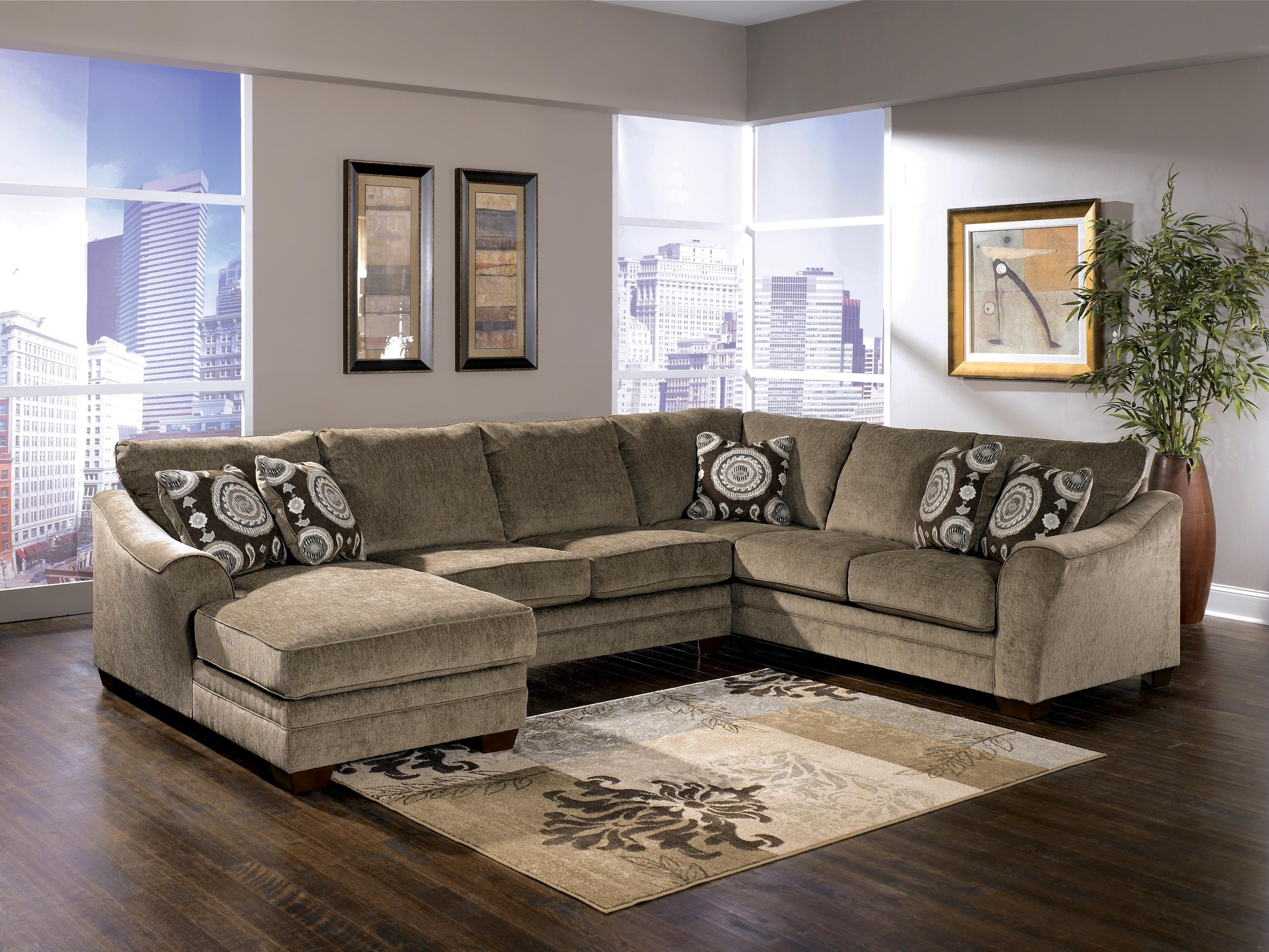 Fashionable Signature Designashley Cosmo – Marble Sectional Sofa With Within Peterborough Ontario Sectional Sofas (View 13 of 15)