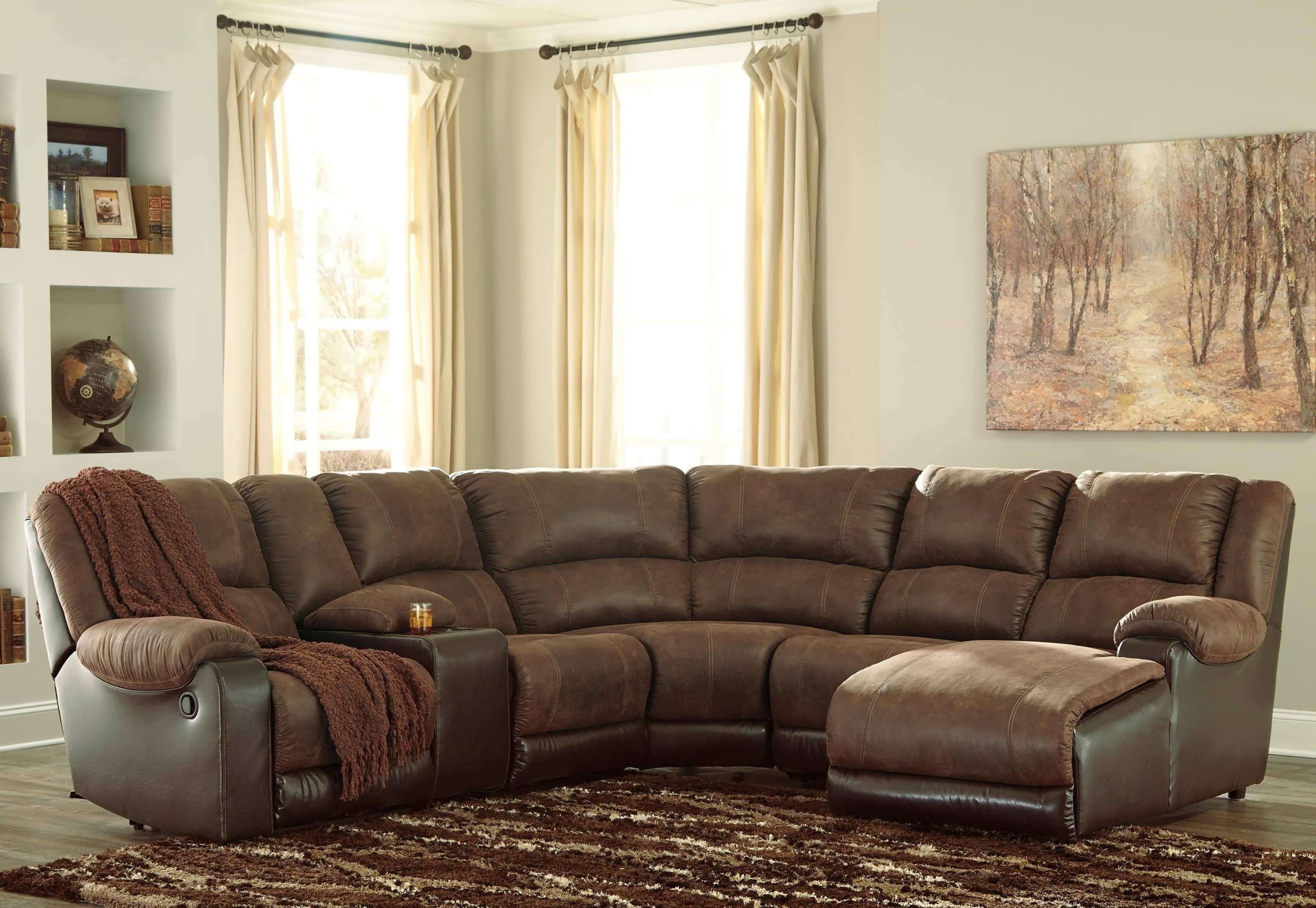 Fashionable Sofa : L Sofa Sectional With Chaise And Recliner Sectional Sofas Within Sectional Sofas With Chaise And Recliner (View 3 of 15)