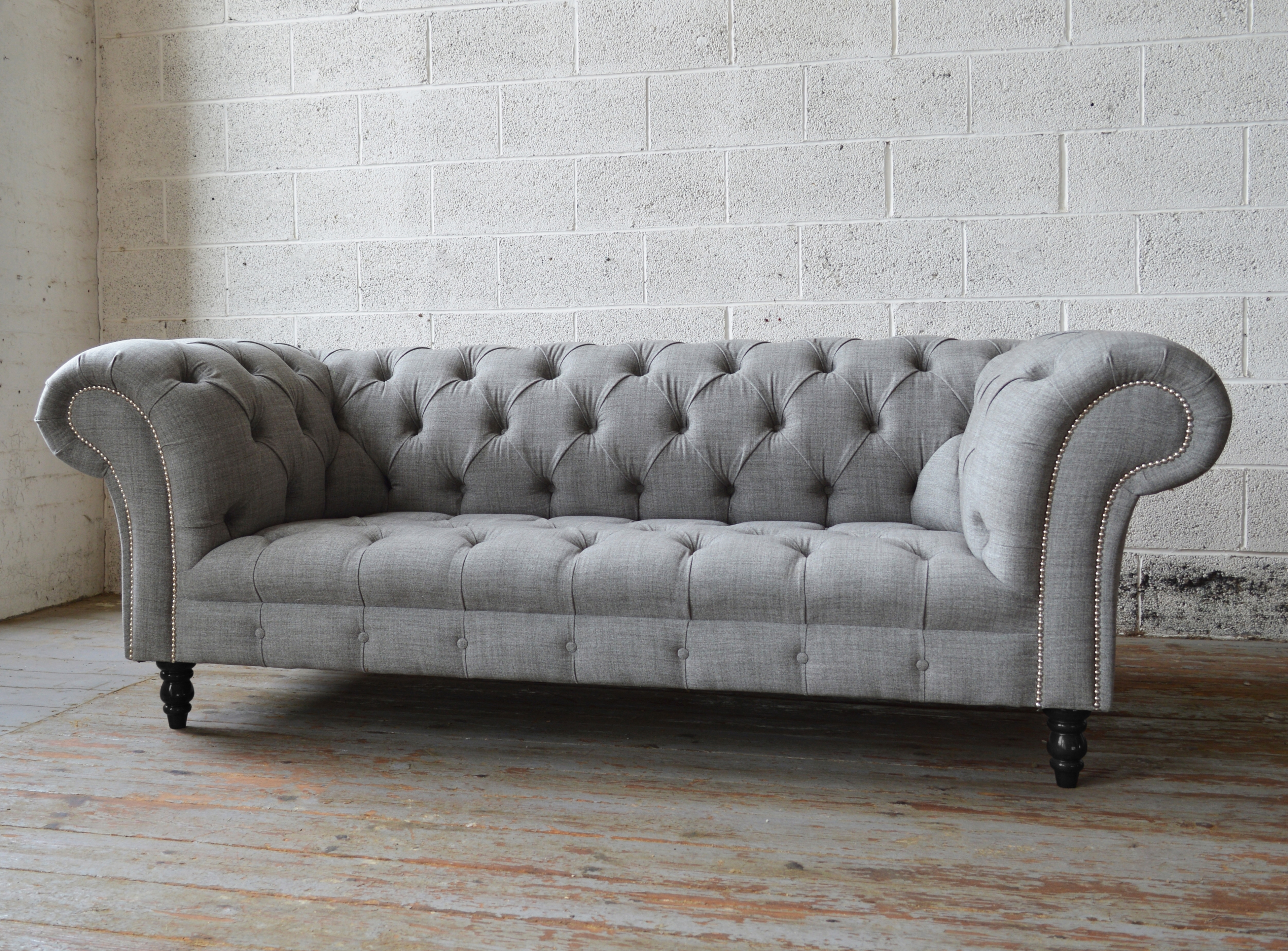 Fashionable Sofas Amazing Grey Leather Chesterfield Sofa Blue Inside Light For Tufted Leather Chesterfield Sofas (View 14 of 15)