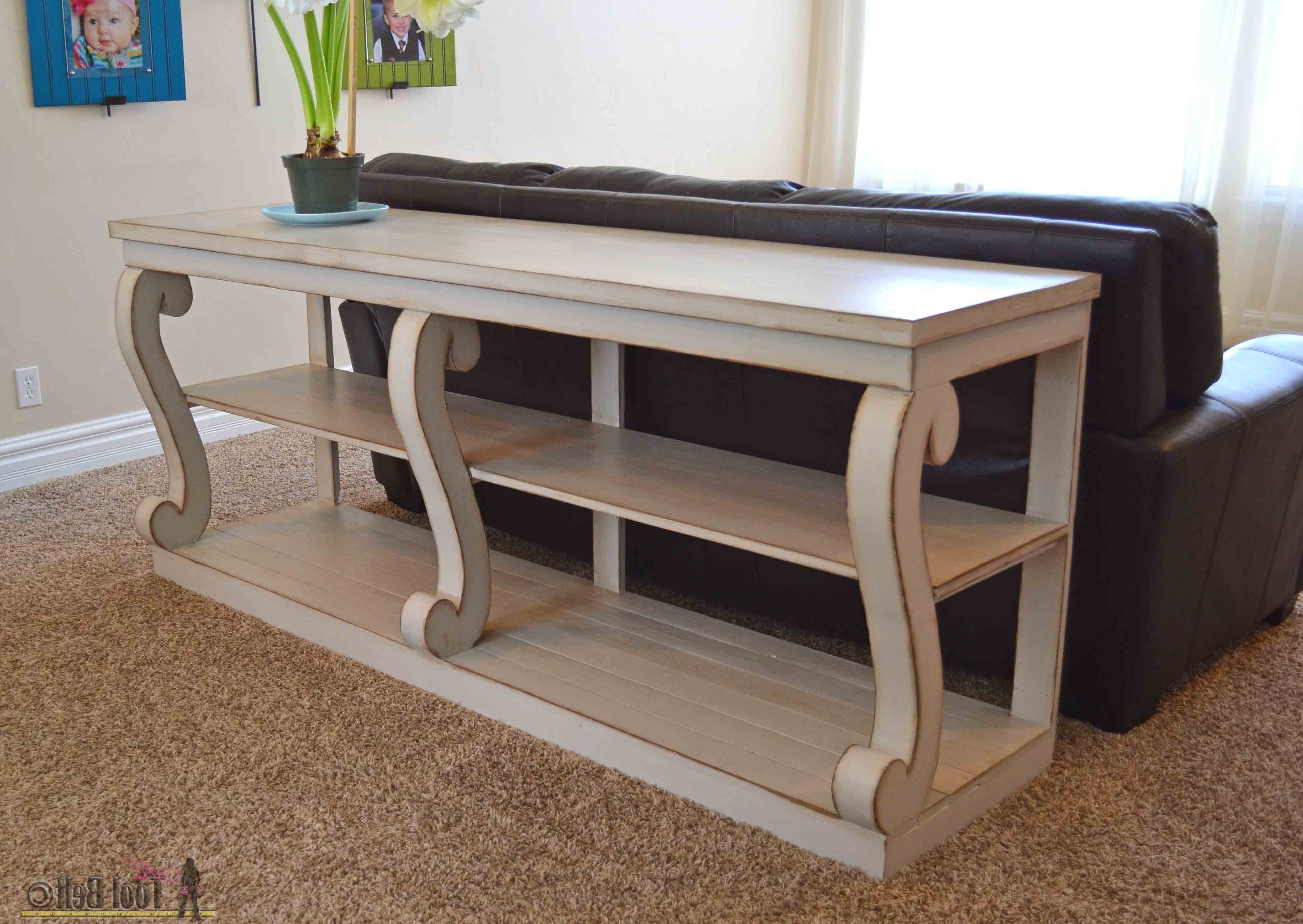 Fashionable Sofas With Back Consoles Throughout Console Table With Scroll Legs – Her Tool Belt (View 4 of 15)