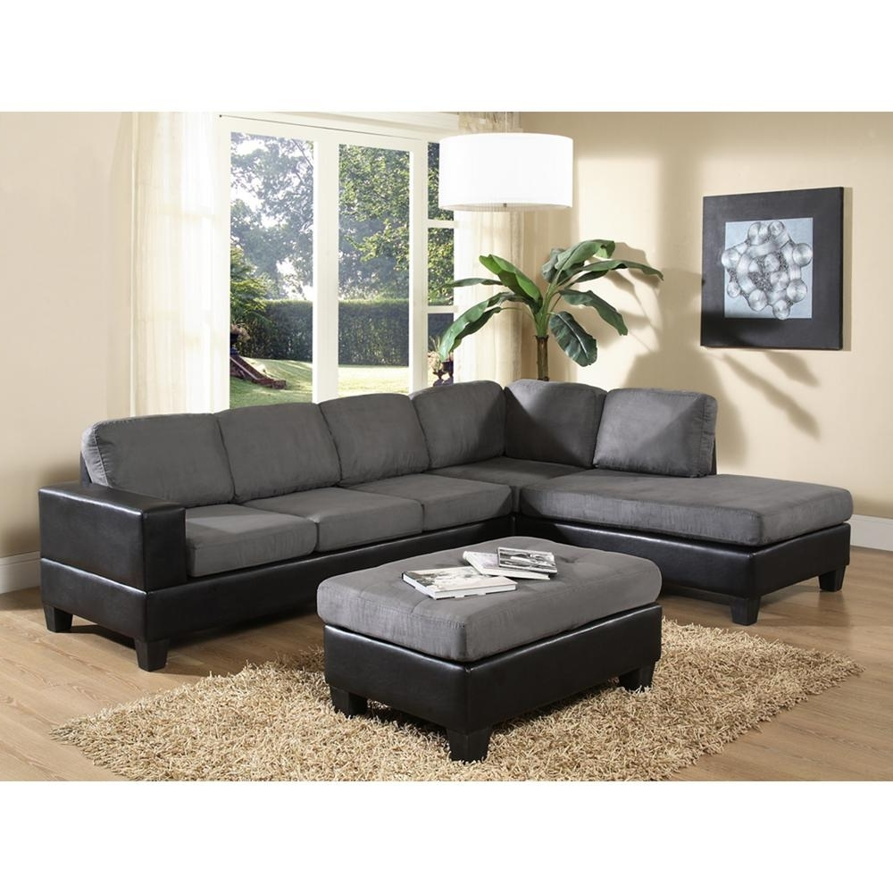 Fashionable Venetian Worldwide Dallin Gray Microfiber Sectional Mfs0003 L Pertaining To Home Depot Sectional Sofas (View 2 of 15)