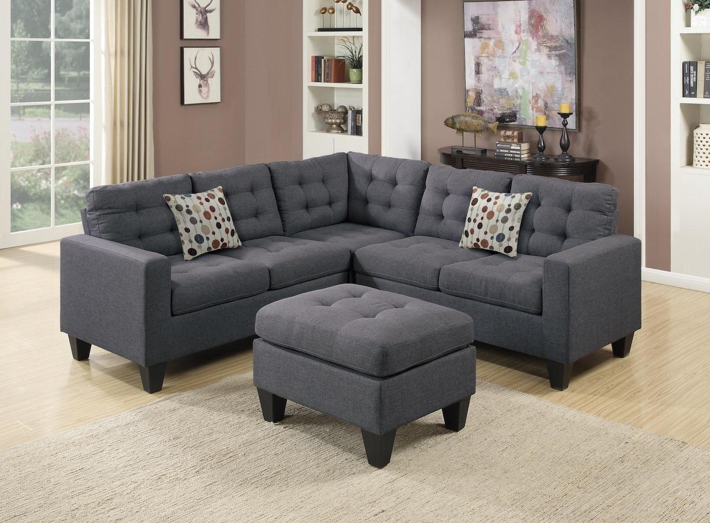 Fashionable Wayfair, Ifin1022, Amazon, Poundex, F6935, Grey, Sectional, Sofa Inside Wayfair Sectional Sofas (View 10 of 15)