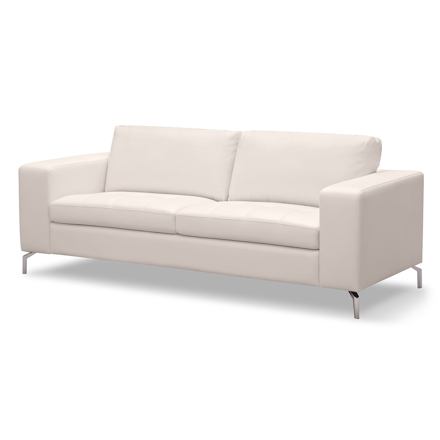 Fashionable White Sofa Chairs Pertaining To Casino Leather Sofa – American Signature Furniture (Main Living (View 4 of 15)