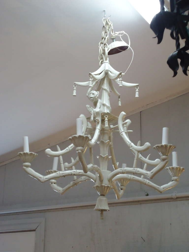 Faux Bamboo Intended For Well Liked Chinoiserie Chandeliers (View 4 of 15)