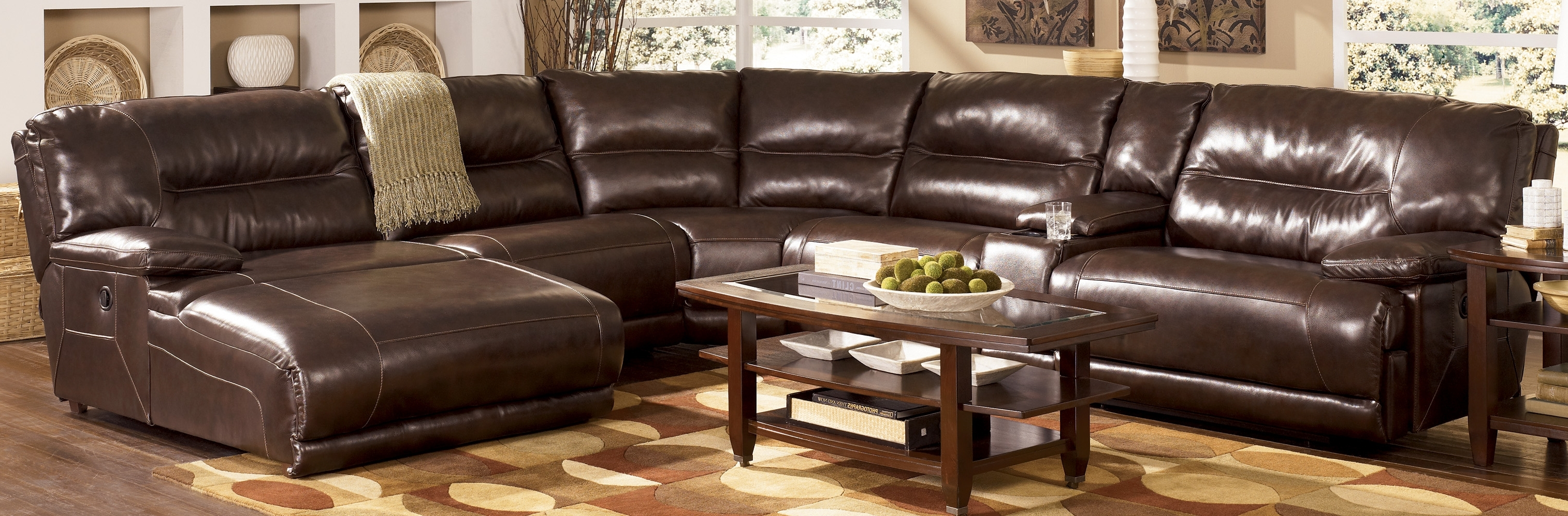 Faux Leather Sectional Sofa With Chaise Inside Trendy Genuine Leather Sectionals With Chaise (View 7 of 15)