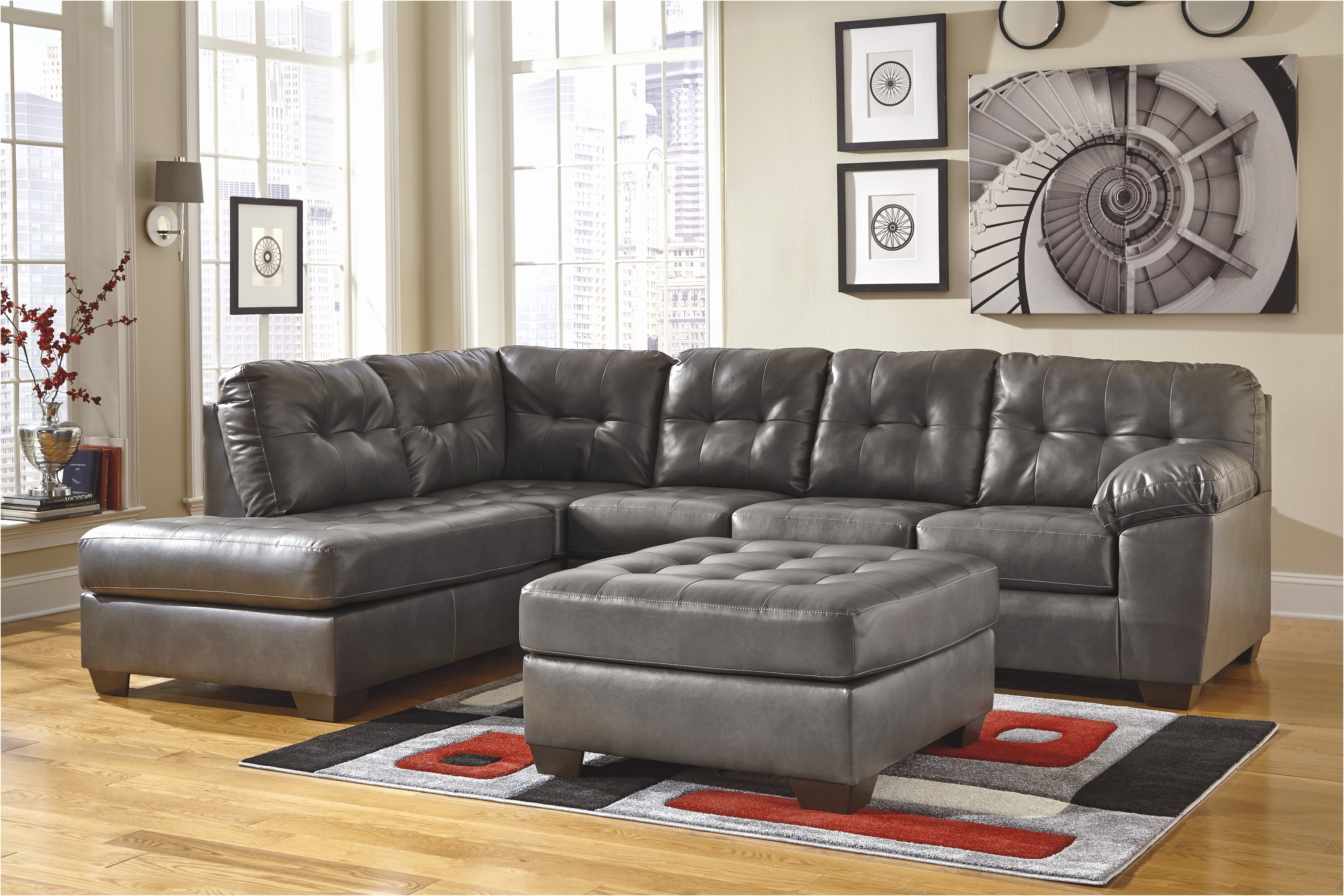 Faux Leather Sectional Sofas Intended For Fashionable Uncategorized (View 11 of 15)