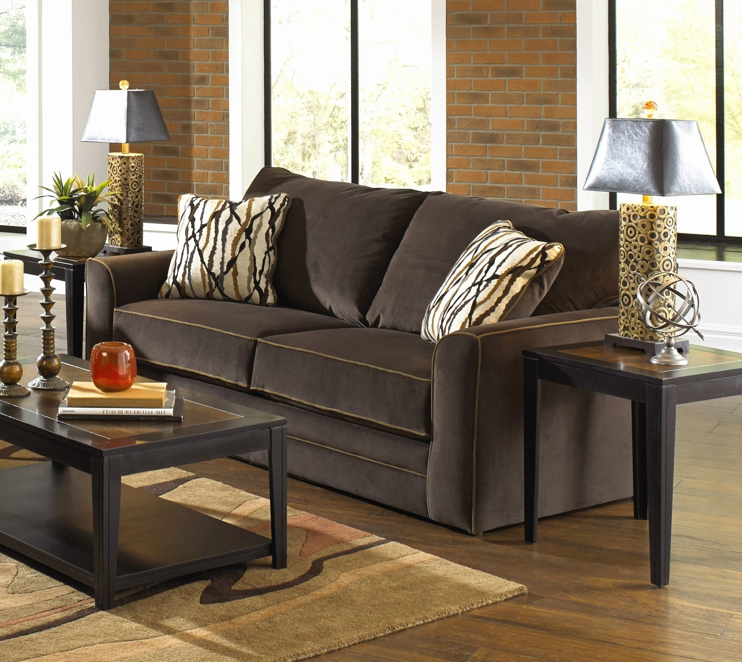 Favorite 30 Beautiful Gallery Of Red Microfiber Couch And Loveseat 2018 In Dock 86 Sectional Sofas (View 12 of 15)