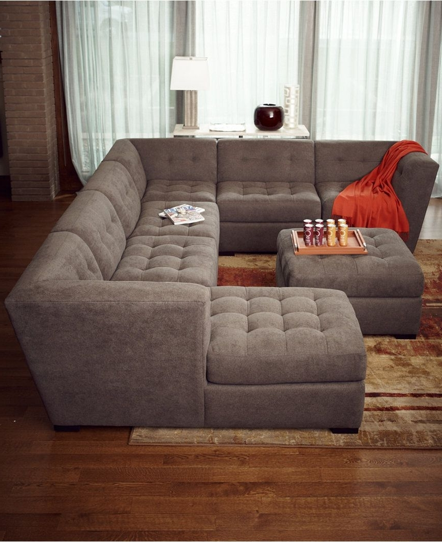 Favorite 6 Piece Leather Sectional Sofas Intended For Roxanne Fabric 6 Piece Modular Sectional Sofa With Ottoman (View 10 of 15)