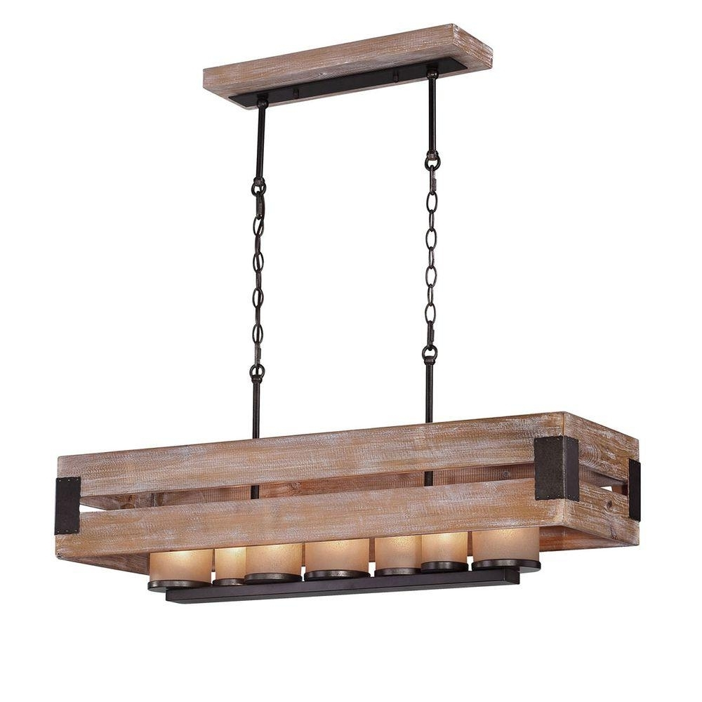 Favorite 7 Light Chandeliers Regarding Home Decorators Collection Ackwood Collection 7 Light Dark Wood (View 3 of 15)