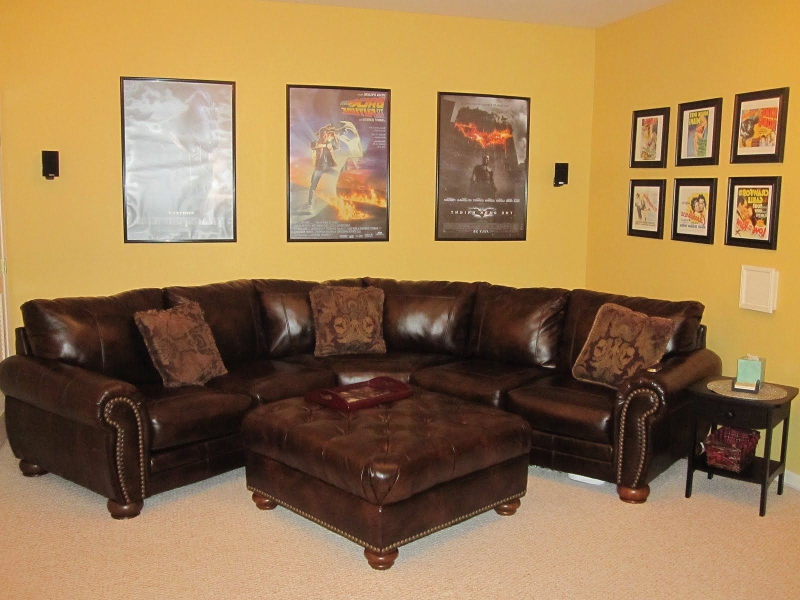 Favorite Amazing Corner Couch Design — Fabrizio Design : Great Ideas Corner Throughout Red Leather Sectionals With Ottoman (View 4 of 15)