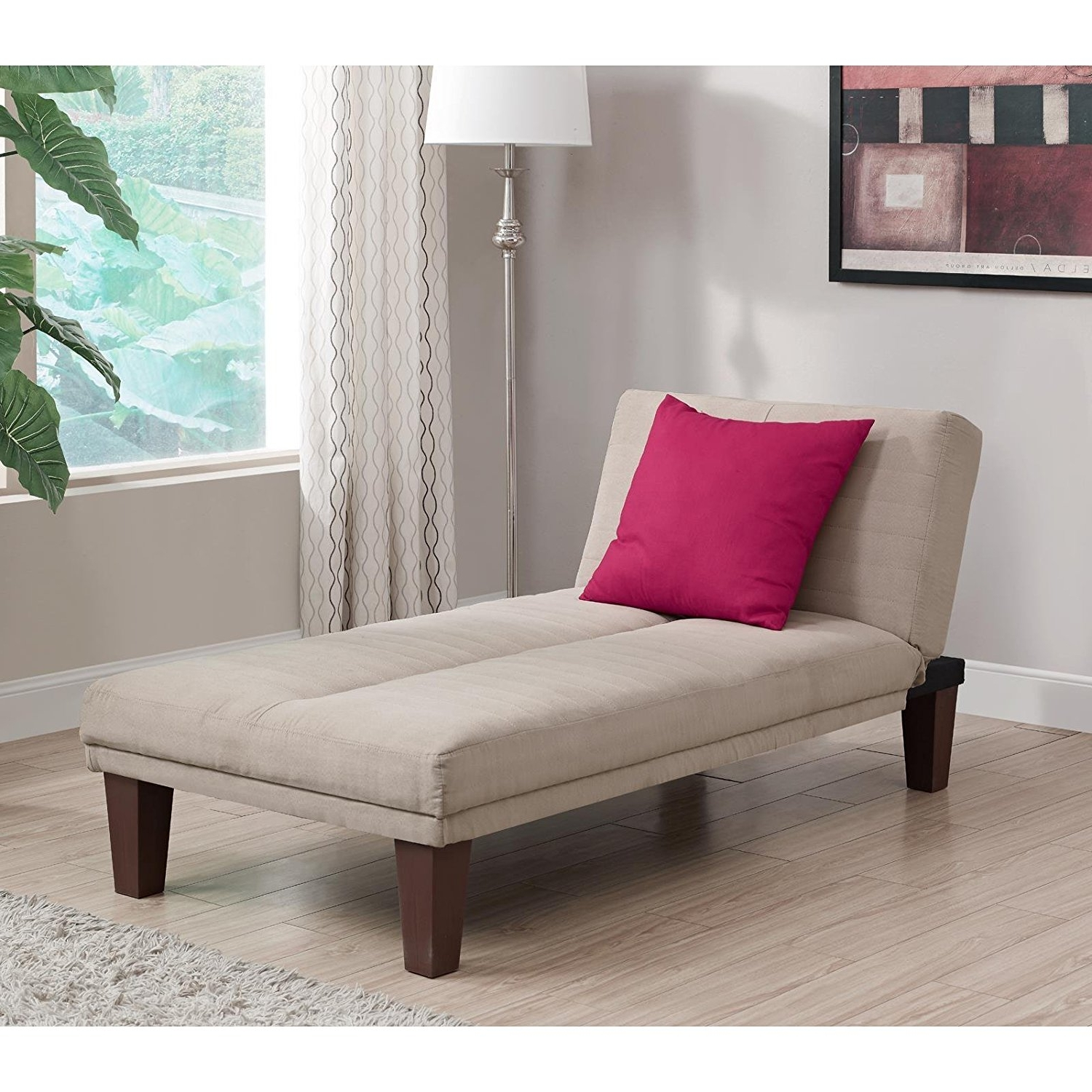 Favorite Amazon: Contemporary Chaise Lounge – Seat Couch Sleeper Indoor Inside Chaise Lounge Beds (View 9 of 15)