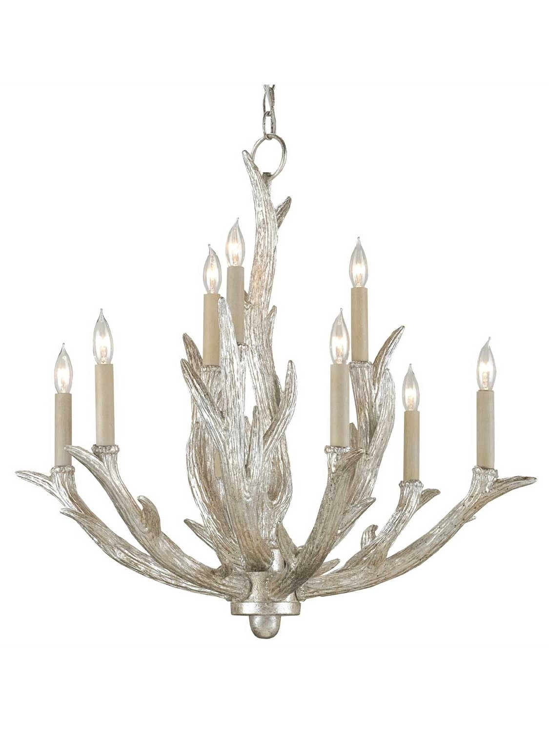 Favorite Antler Chandelier Pertaining To Silver Antler Chandelier (View 6 of 15)