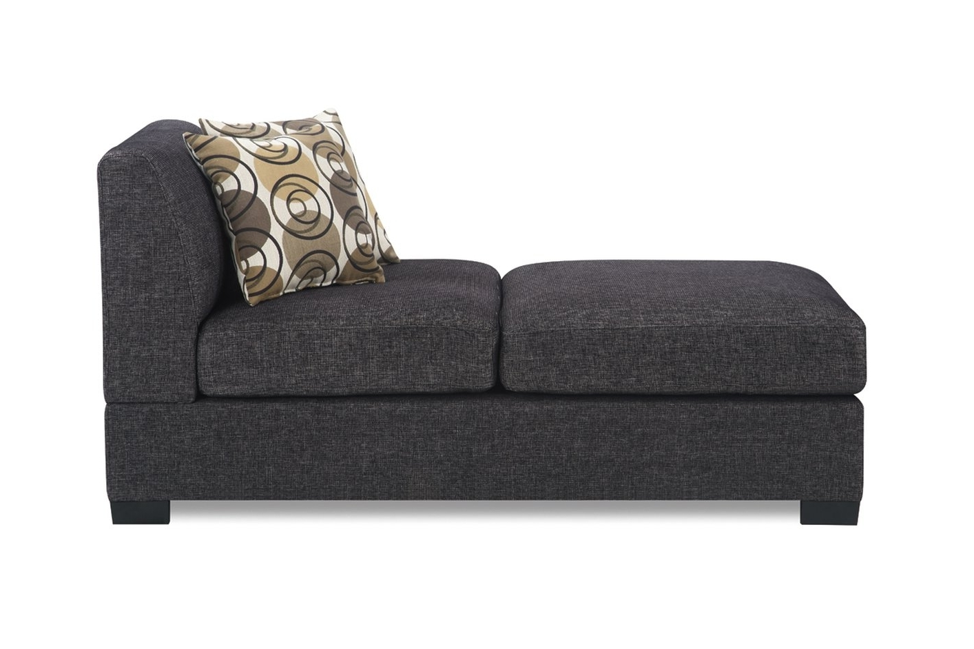 Favorite Armless Chaises For Grey Fabric Chaise Lounge – Steal A Sofa Furniture Outlet Los (View 15 of 15)