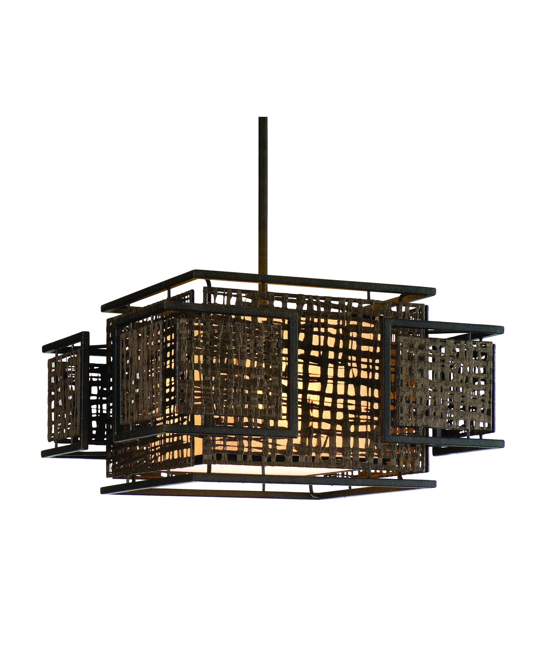 Favorite Asian Chandeliers Throughout Corbett Lighting 105 44 Shoji 24 Inch Wide 3 Light Large Pendant (View 10 of 15)