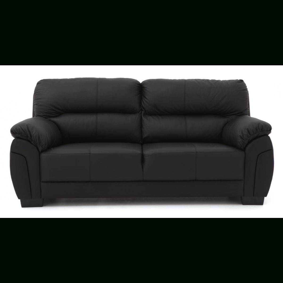 Favorite Black 2 Seater Sofas In Ancona 3 Seater Plus 2 Seater Sofa Set Black – Furnico Village (View 11 of 15)