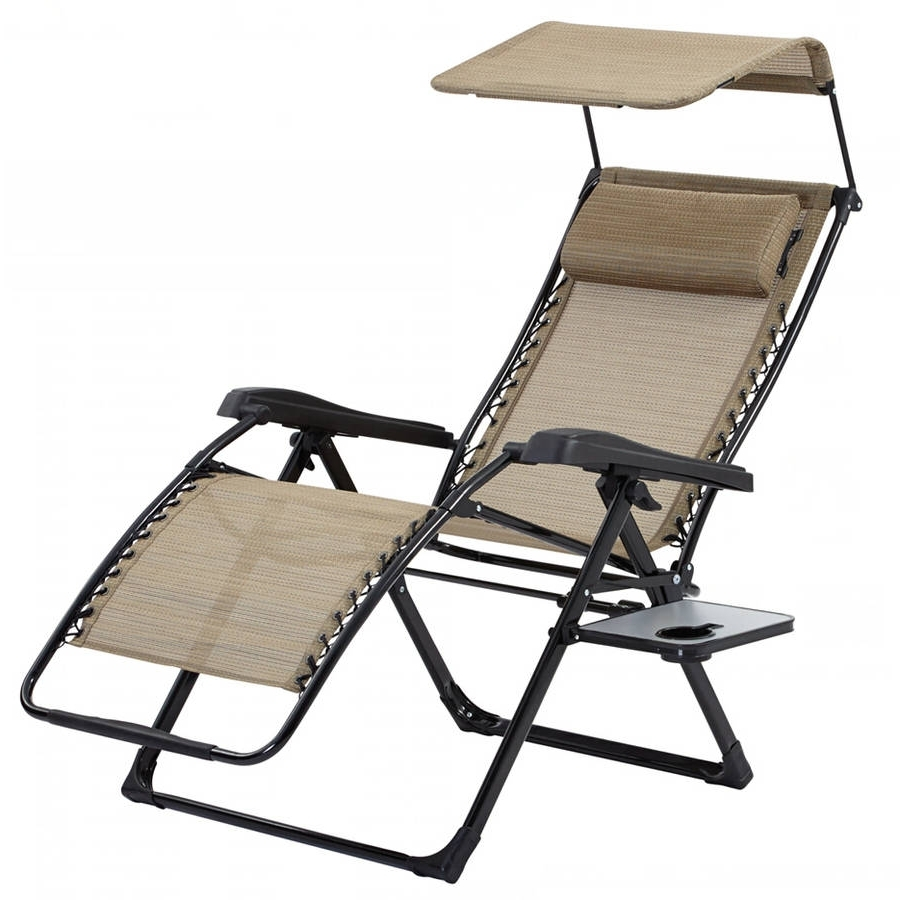 Favorite Bliss Hammocks Recliner Zero Gravity Lounge Chair With Sunshade For Zero Gravity Chaise Lounges (View 11 of 15)