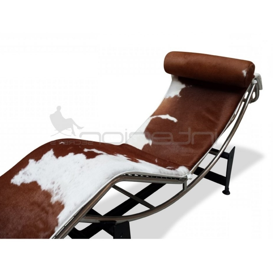 Favorite Brown Chaise Lounge Chair By Le Corbusier With Regard To Chaise Lounge Chair Le Corbusier Lc Brown White Interior Secrets (View 6 of 15)