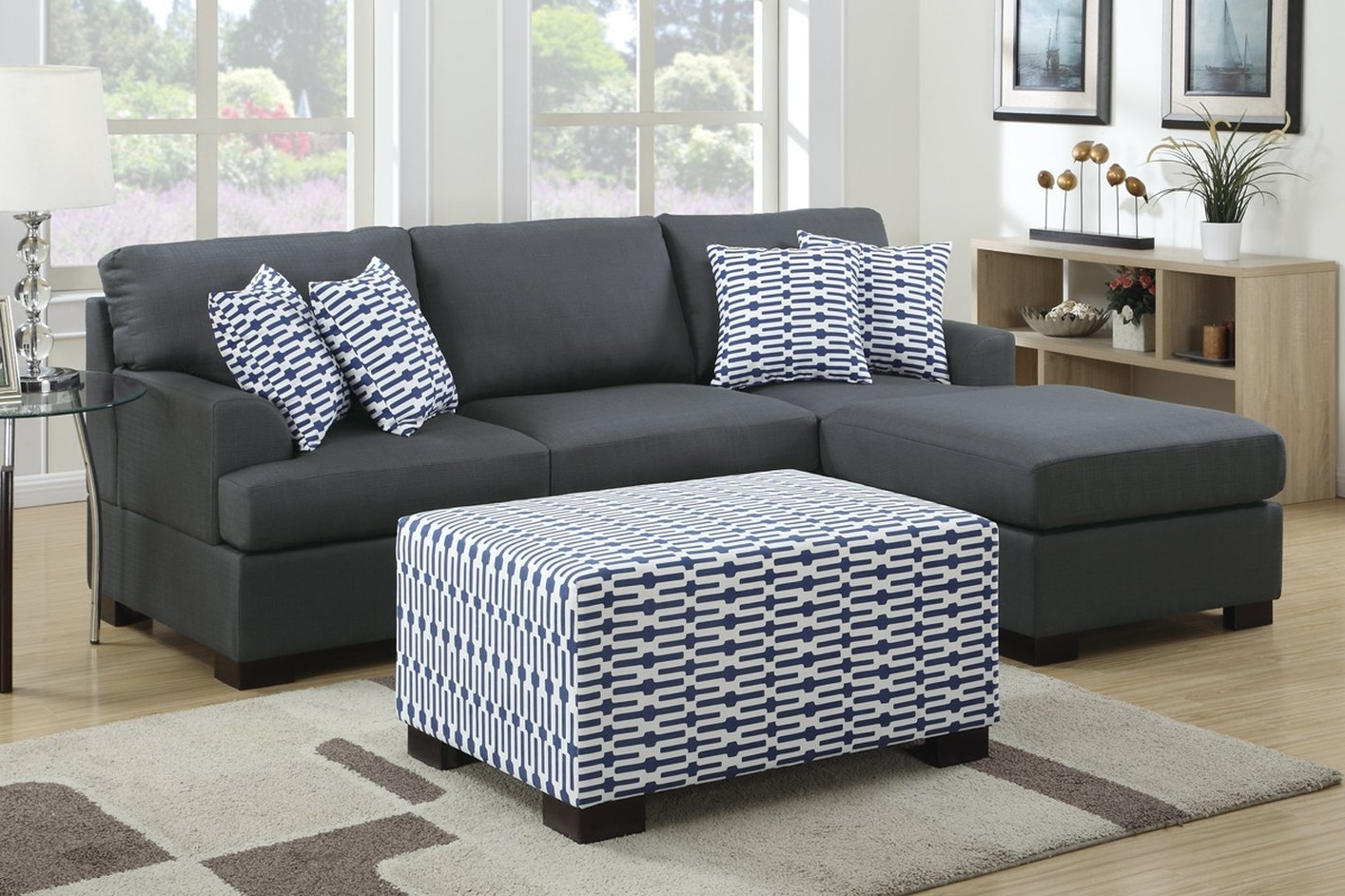 Favorite Camille Black Fabric Chaise Lounge – Steal A Sofa Furniture Outlet Intended For Fabric Chaise Lounges (View 10 of 15)
