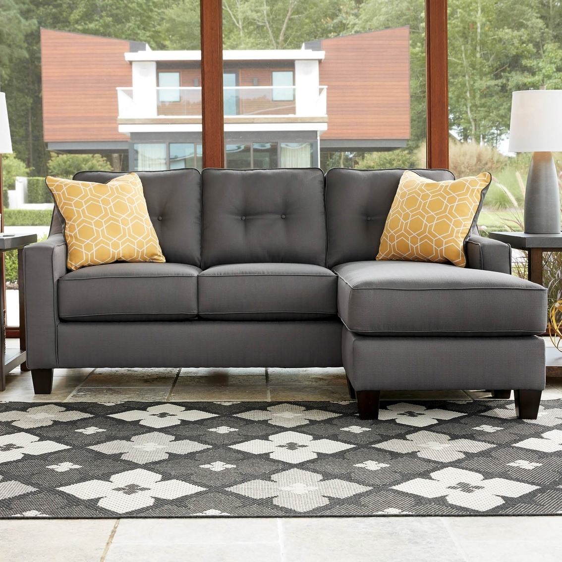 Favorite Chaise Couches Regarding Benchcraft Aldie Nuvella Sofa Chaise (View 5 of 15)