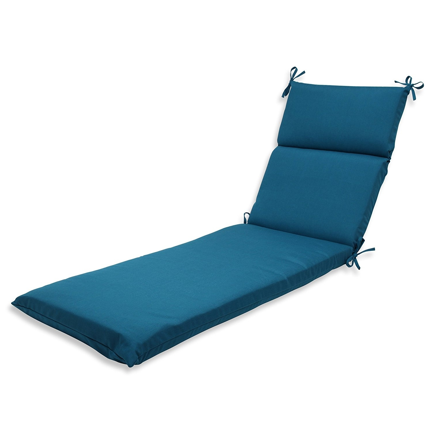 Favorite Chaise Cushions Pertaining To Amazon: Pillow Perfect Chaise Lounge Cushion With Sunbrella (View 11 of 15)