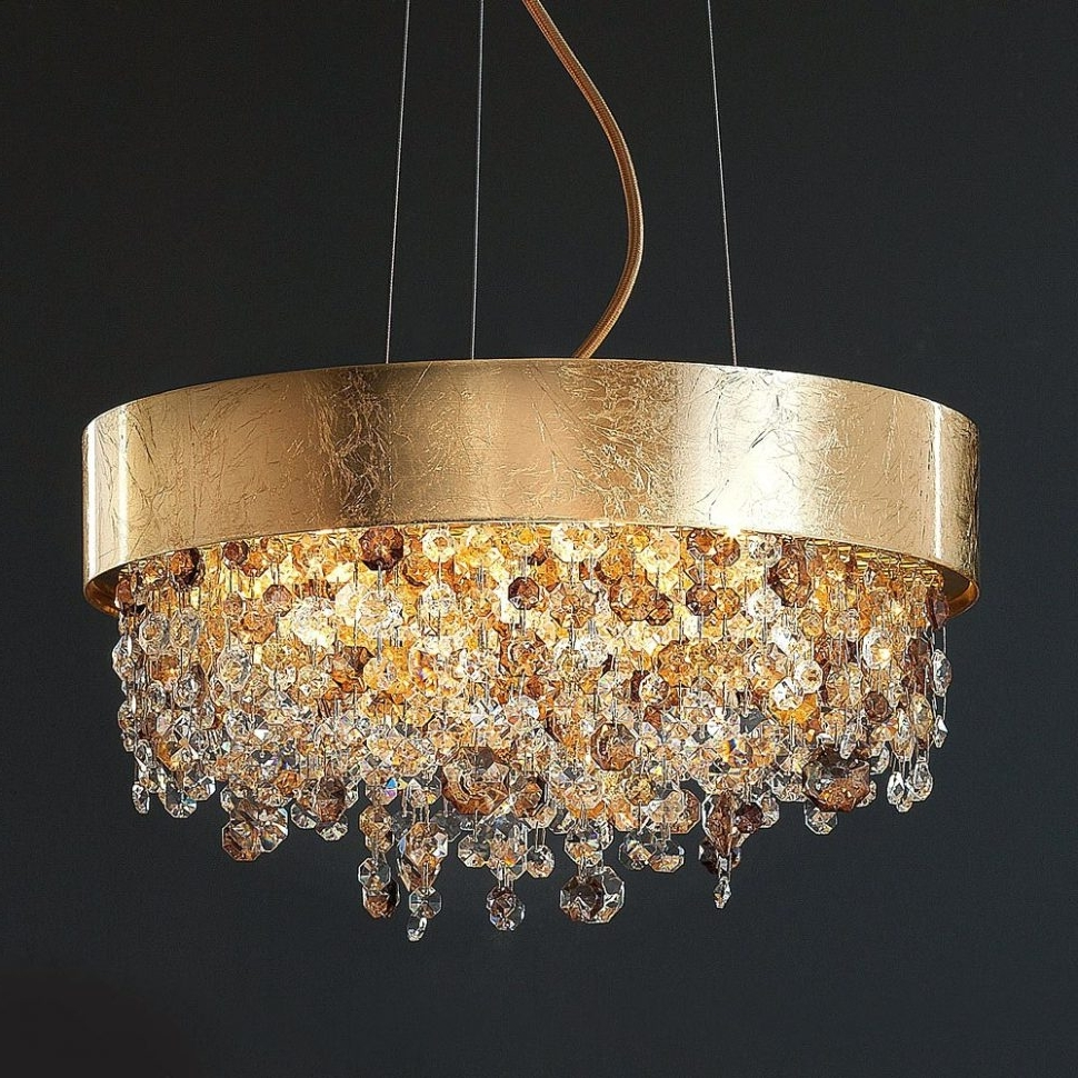 Favorite Chandeliers Design : Awesome Gold Crystal Chandelier Uk Modern With Regard To Cream Gold Chandelier (View 8 of 15)