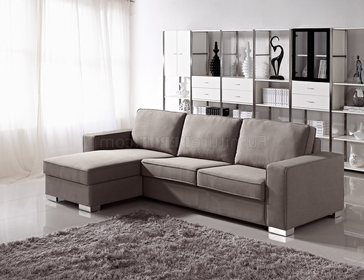 Favorite Convertible Sectional Sofas With 1264 Sectional Sofa Bed Convertible In Fabricesf (View 7 of 15)
