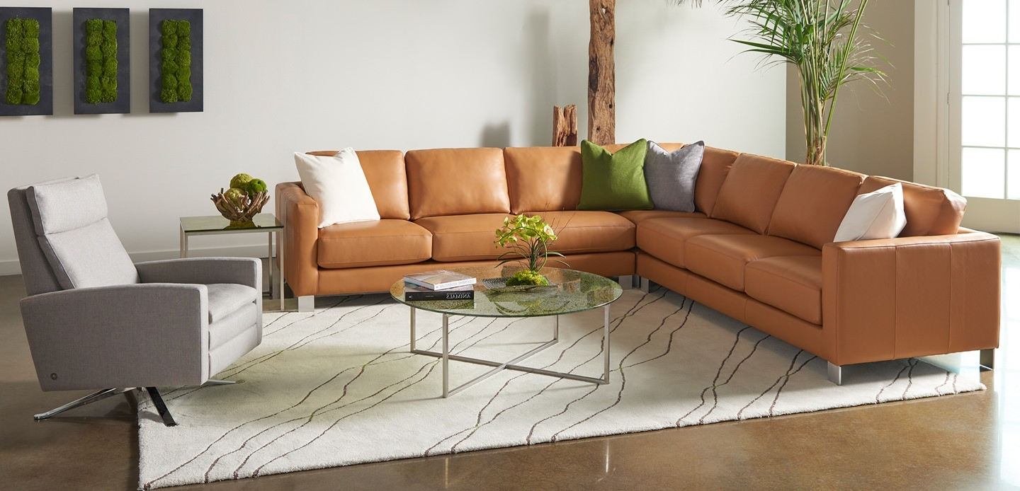 Favorite Custom Made Sectional Sofas For Sectional Sofa : Leather And Microfiber Sectional Leather (View 7 of 15)