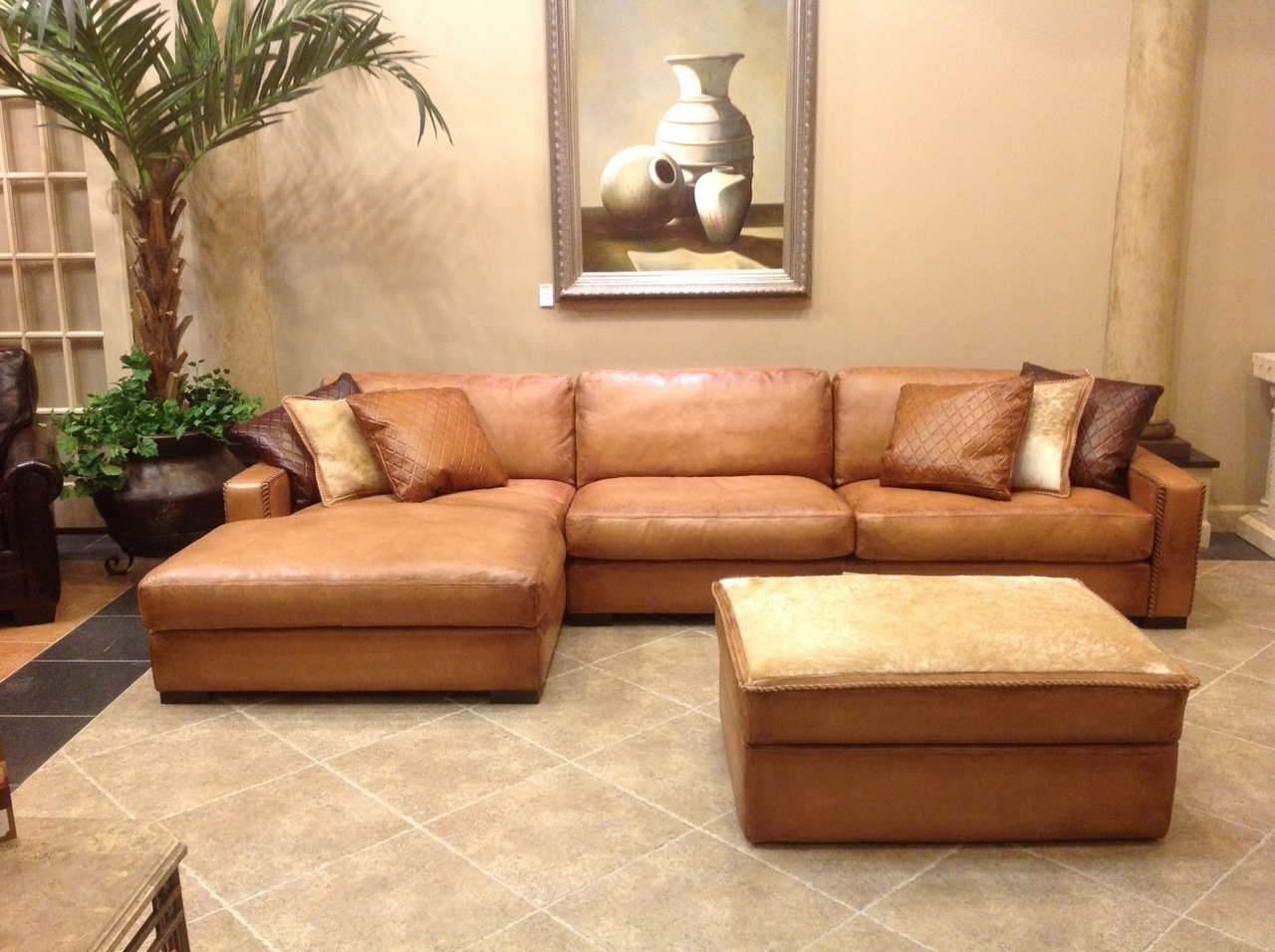 Favorite Deep Seat Leather Sectional Sofa • Leather Sofa Pertaining To Deep Seat Sectionals With Chaise (View 6 of 15)