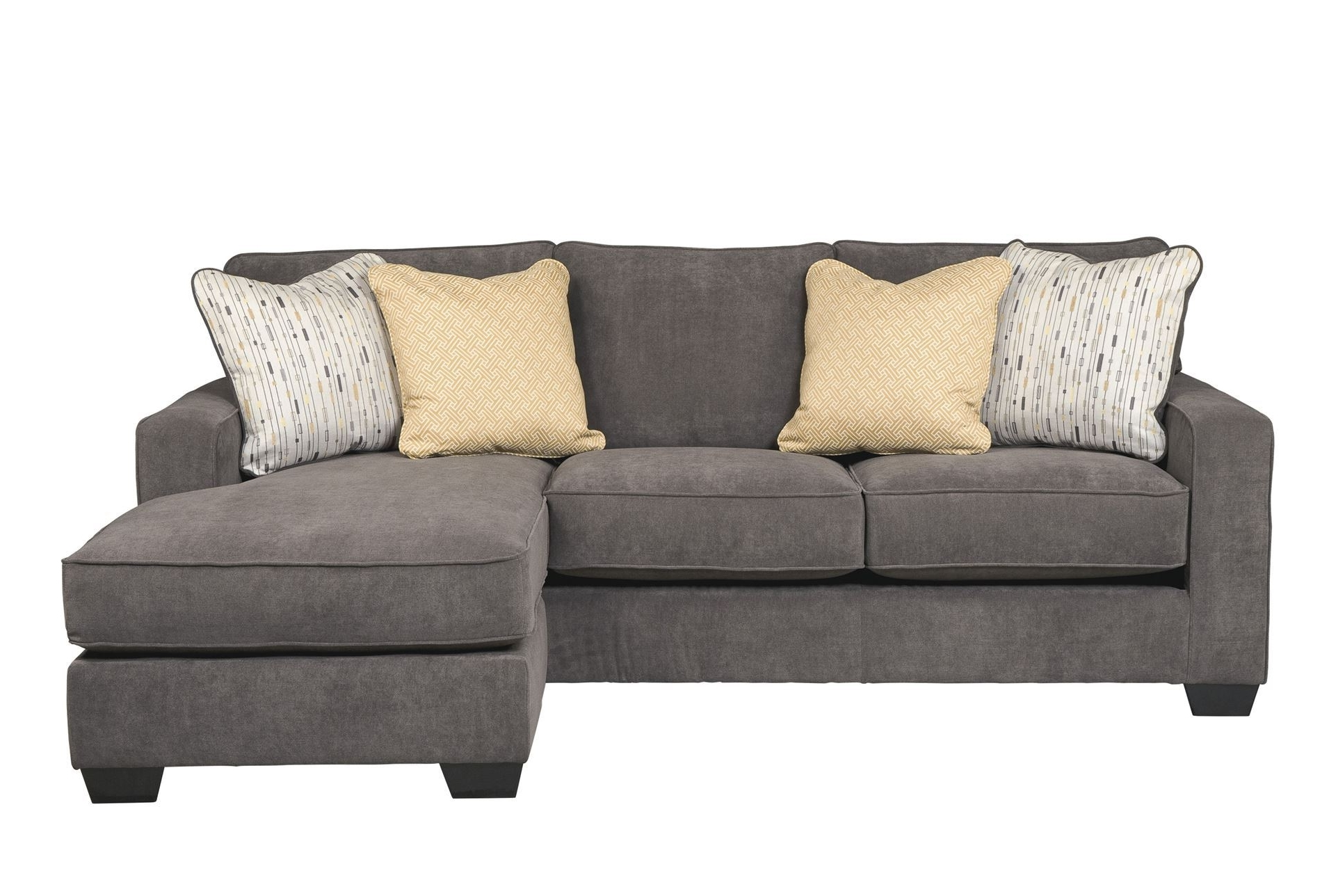 Favorite Grey Couches With Chaise With L Grey Fabric Sectional Couch With Chaise And Three Seats (View 3 of 15)