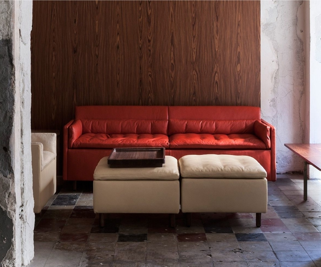Favorite High End Sofas In Furniture: Salon Sofa In Red Leather – 10 High End And Handsome (View 14 of 15)