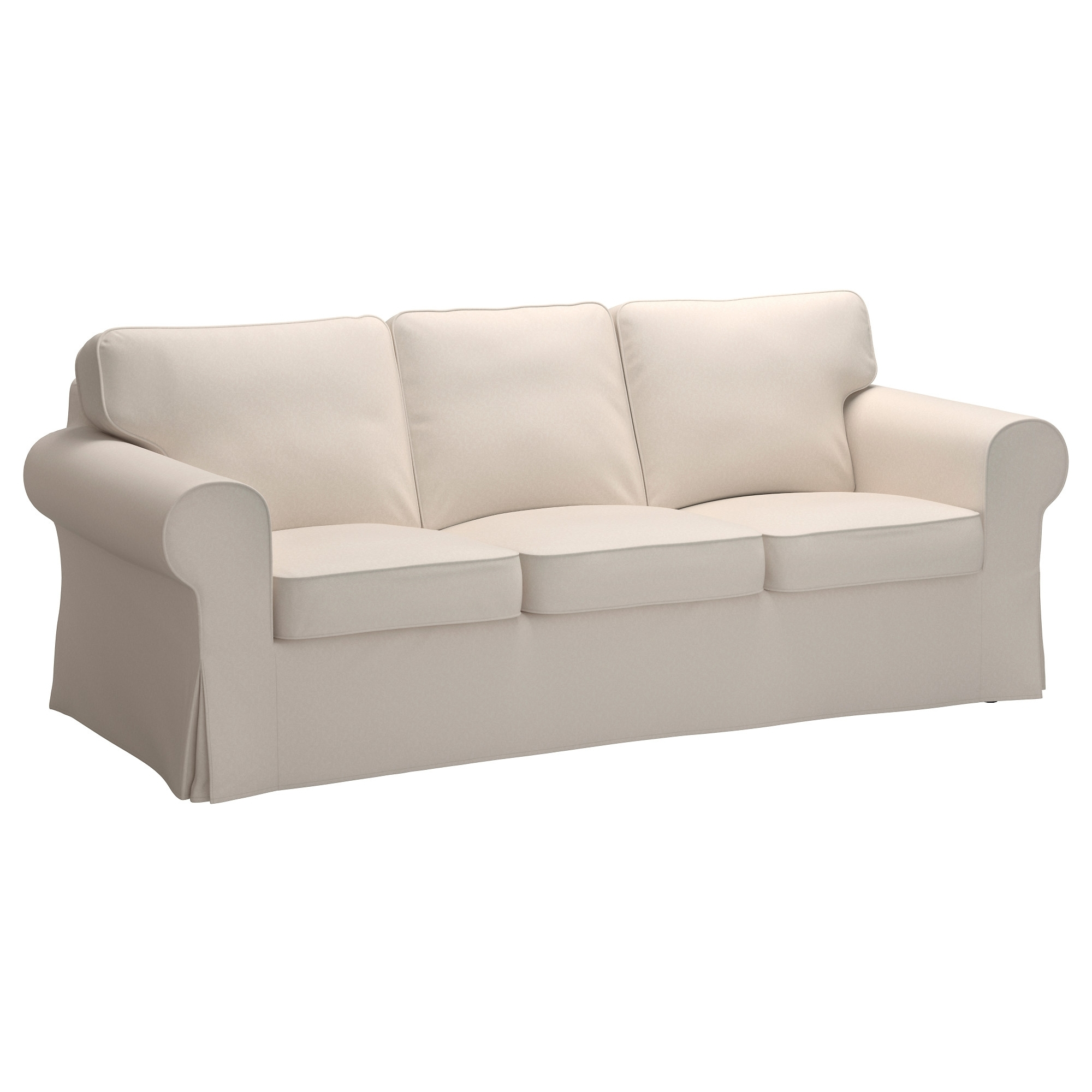 Favorite Ikea Small Sofas Inside Ektorp Three Seat Sofa – Lofallet Beige – Ikea (View 6 of 15)