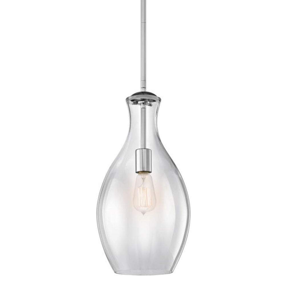 Favorite Kichler Lighting Clear Teardrop Glass Pendant Light In Chrome Inside Clear Glass Chandeliers (View 8 of 15)