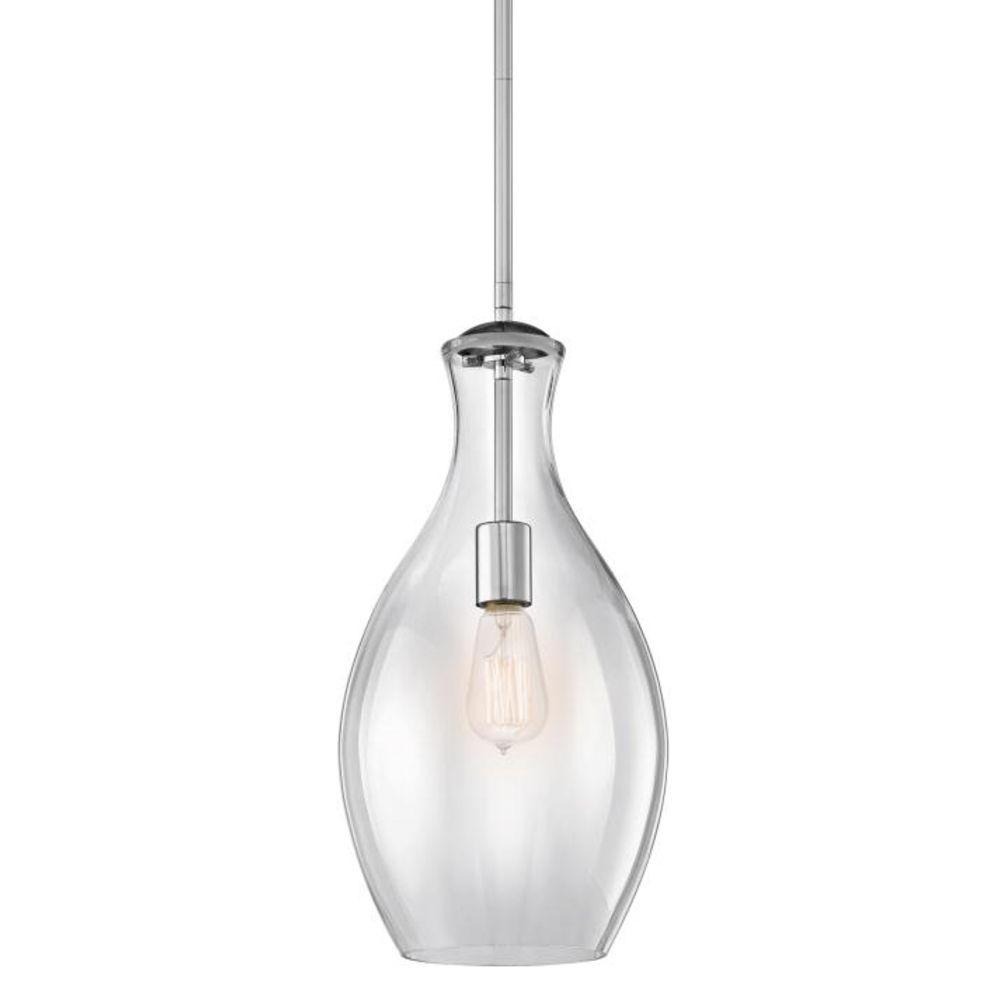 Favorite Kichler Lighting Clear Teardrop Glass Pendant Light In Chrome Inside Clear Glass Chandeliers (View 10 of 15)
