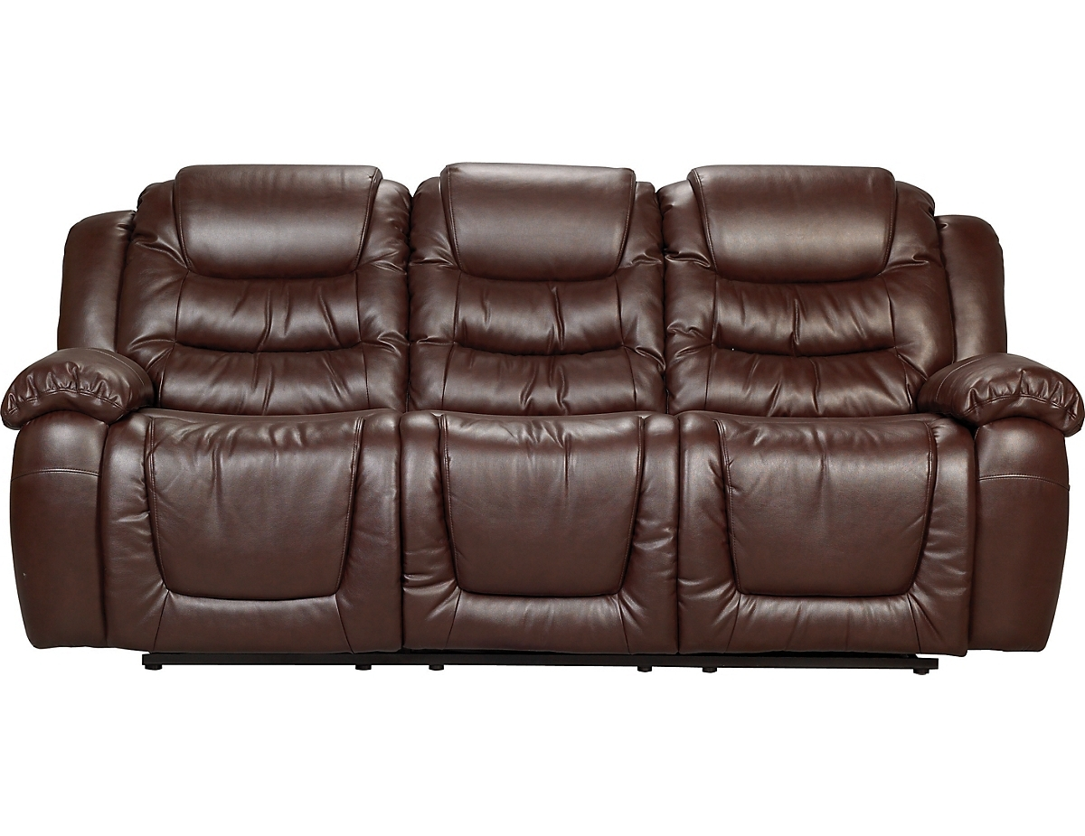 Favorite Maddux Bonded Leather Reclining Sofa – Brown Twin Set (View 7 of 15)