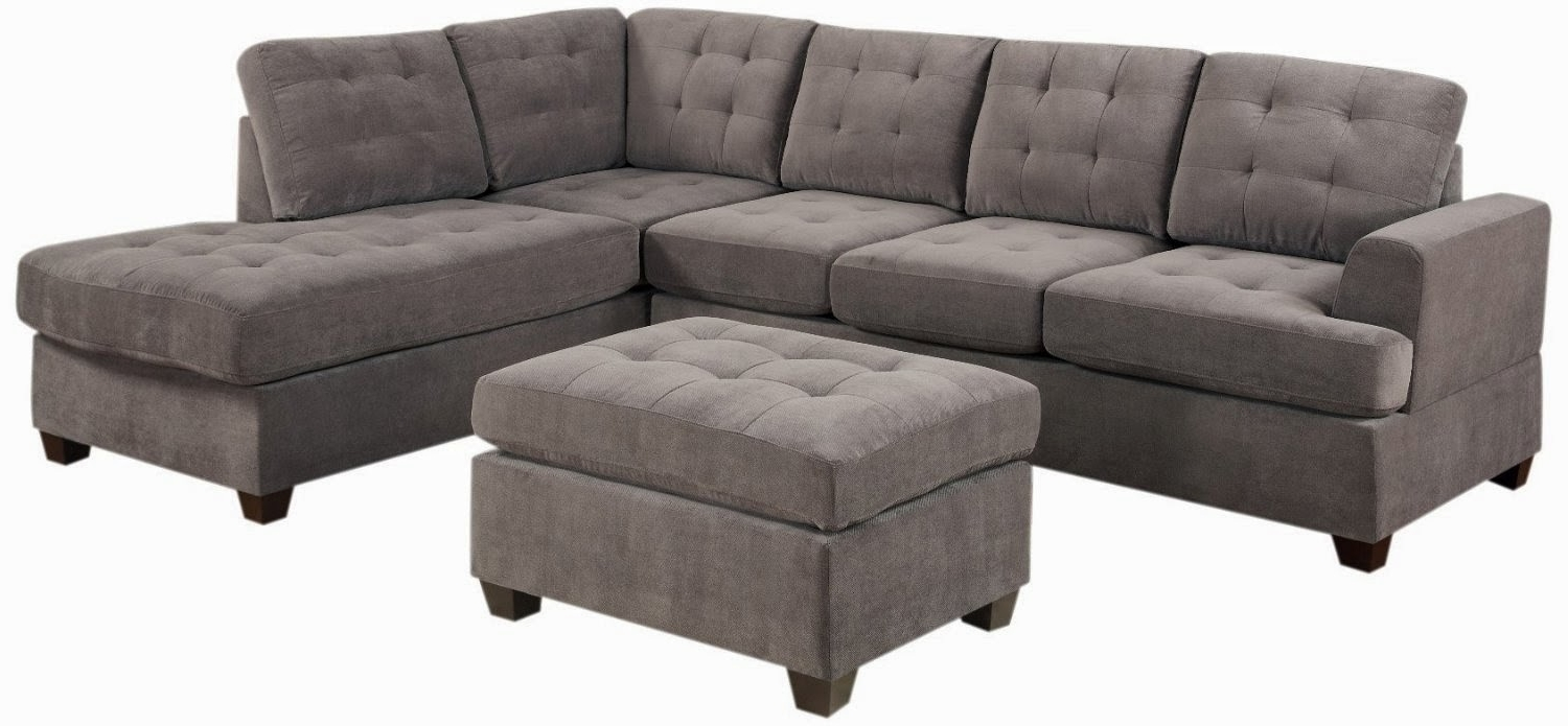 Favorite Microfiber Sectional Sofas With Chaise Inside Awesome Grey Microfiber Sectional Sofa Photos – Liltigertoo (View 4 of 15)