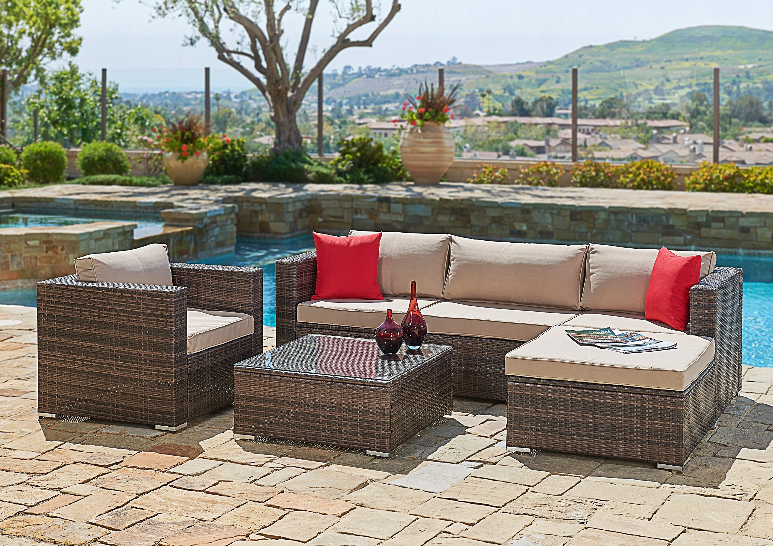Favorite Patio Sofas Regarding Best Rated In Patio Sofas & Helpful Customer Reviews – Amazon (View 8 of 15)