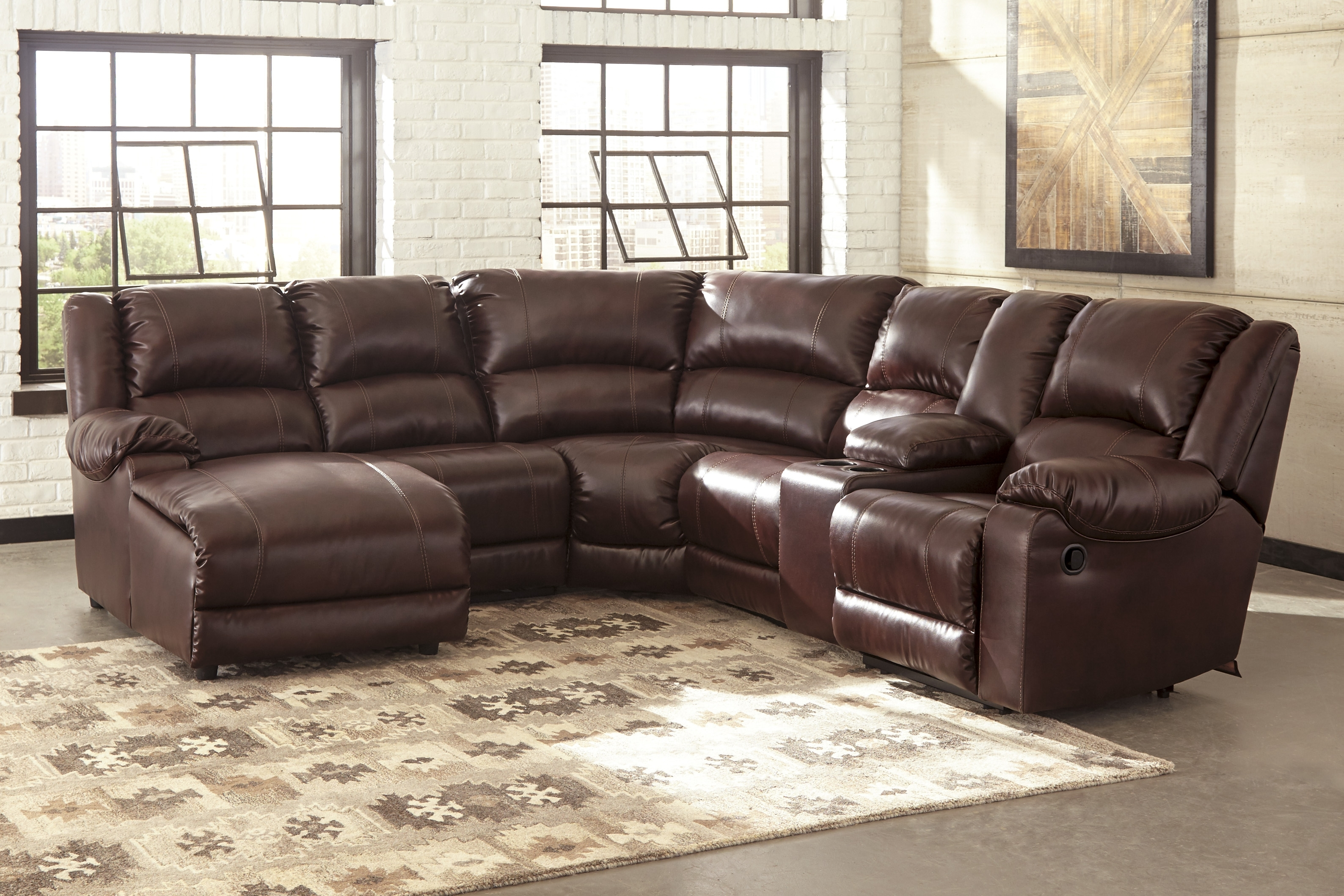 Favorite Reclining Leather Sectionals Regarding Evansville In Sectional Sofas (View 8 of 15)