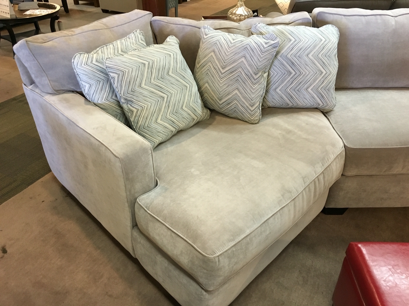 Favorite Sectional Couch With A Cuddler Chaisejonathan Louis Furniture Inside Cuddler Chaises (View 7 of 15)