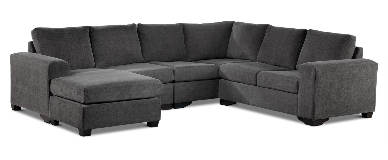 Favorite Sectional Sofas At Edmonton Regarding Danielle 3 Piece Sectional With Right Facing Corner Wedge – Grey (View 7 of 15)