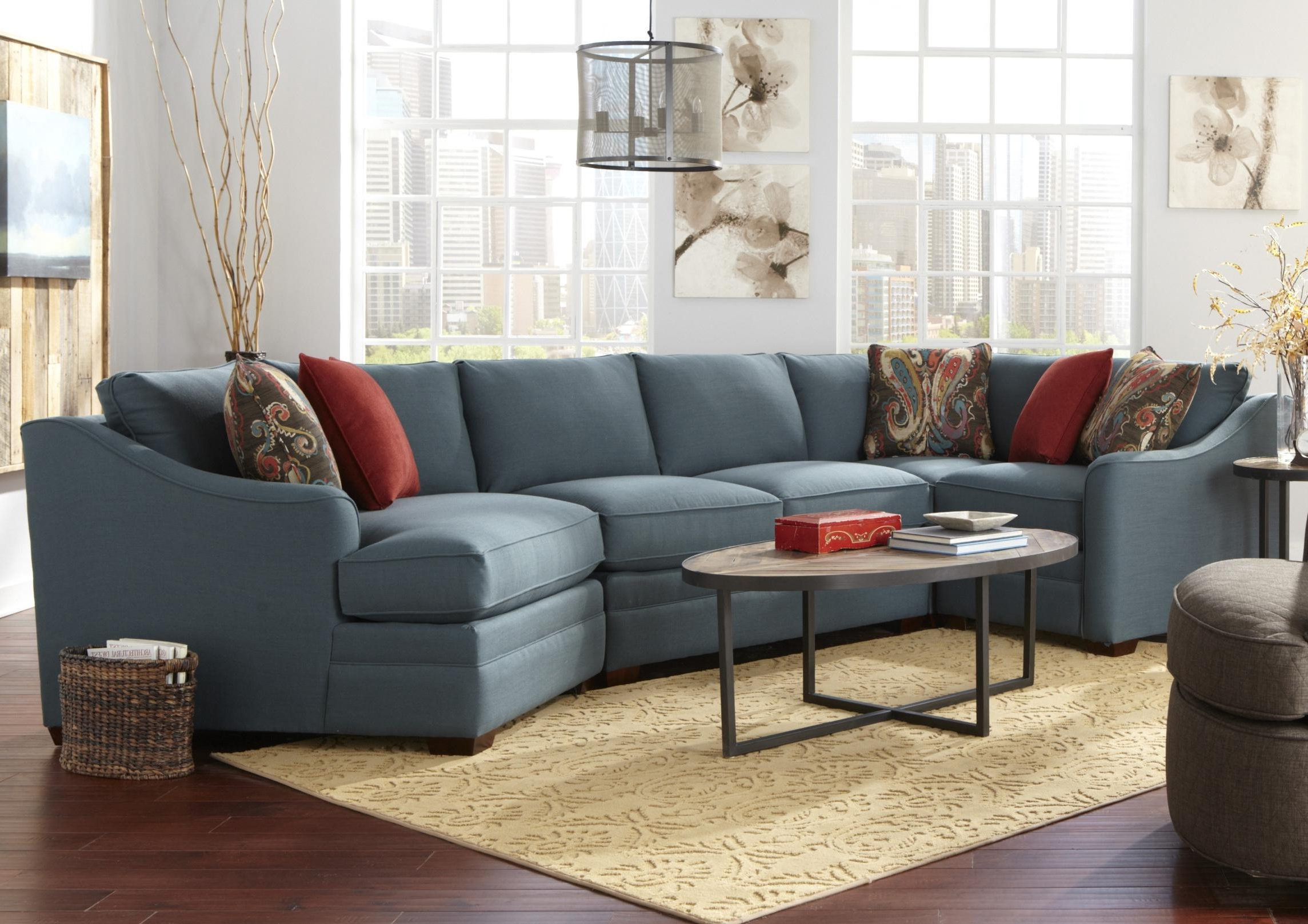 Favorite Sectional Sofas With Cuddler Chaise Regarding Four Piece <B>Customizable</b> Sectional Sofa With Raf Cuddler (View 5 of 15)