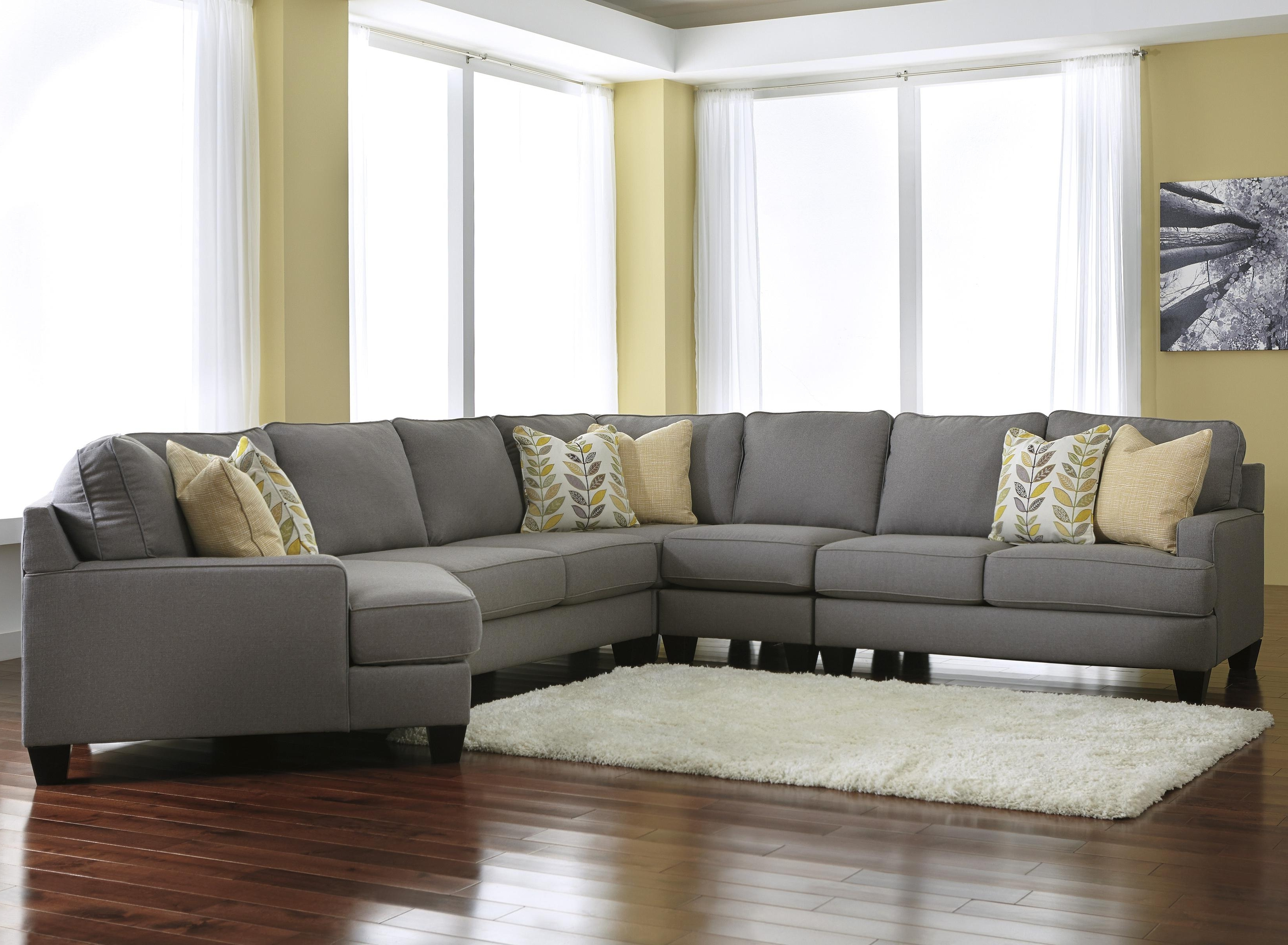 Favorite Sectional Sofas With Cuddler Chaise With Signature Designashley Chamberly – Alloy Modern 5 Piece (View 3 of 15)